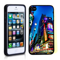 Times Square New York City At Night iPhone 5 Case - For iPhone 5/5G - Designer TPU Case Verizon AT&T Sprint