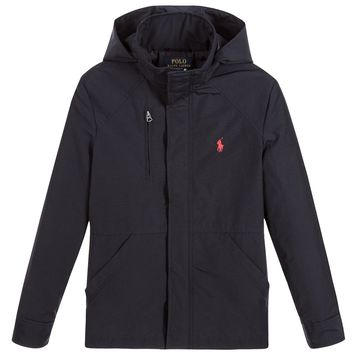Boys Navy Blue Shower Proof Jacket