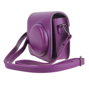 Brand New PU Leather Camera Strap Bag Case Cover Pouch Protector For Photo Camera For Fuji Fujifilm Instax Mini 8 Accessories