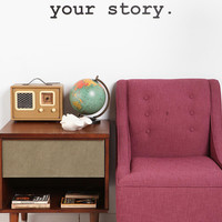 Urban Outfitters - You Are Living Your Story Wall Decal