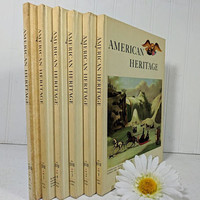 American Heritage Complete 6 Books Set of Vol. XVII Dec 1965 through Oct 1966 American Heritage Hard Cover Magazines One Full Year Books Set