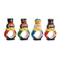 Boston Warehouse: Nutcracker Napkin Ring Set Of 4, at 33% off!