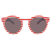 Illesteva Leonard II Red Stripe Sunglasses