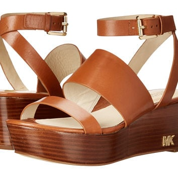 MICHAEL KORS POESY PLATFORM SANDALS LUGGAGE 8.5M