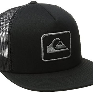 Quiksilver Men's Ropes Trucker Hat, Black, One Size