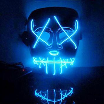Halloween Mask LED Light Up Funny Mask from The Purge Election Year Great for Festival Cosplay Halloween Costume MM4