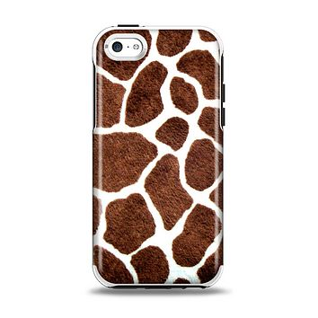 The Real Giraffe Animal Print Apple iPhone 5c Otterbox Symmetry Case Skin Set