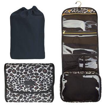 Hanging Toiletry Bag Approved Travel Kit for Women Flat Makeup Case