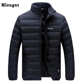 Big Size White Duck Down Men's Winter Jacket Ultralight Down Jacket Casual Outerwear Snow Warm Fur Collar Brand Coat Parkas