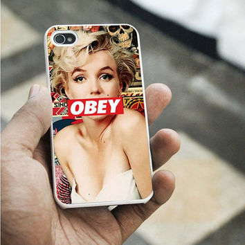 Marilyn Monroe Obey iPhone 5C case,iPhone 5S case,iphone 5 case,iphone 4 case,iphone 4S  case,Samsung s3 case,samsung s4 case