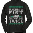 Making A Fist Ugly Christmas Sweater