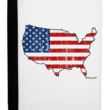 United States Cutout - American Flag Distressed Ipad Mini Fold Stand  Case by TooLoud