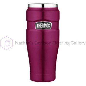 Thermos Stainless King™ Vacuum Insulated Travel Tumbler - 16 oz. - Stainless Steel/Raspberry