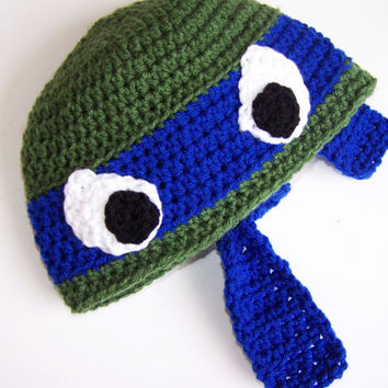 Custom Teenage Mutant Ninja Turtle (TMNT) Crochet Beanie/Hat