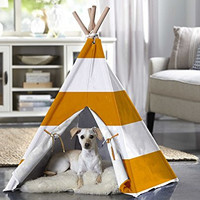 Pet Rite Collection Orange Stripe Large Pet Teepee