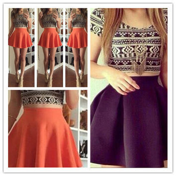 CUTE FASHION TOTEM TWO PIECE SKIRT