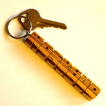 Name Keychain - Bocote Wood - Carved to Order