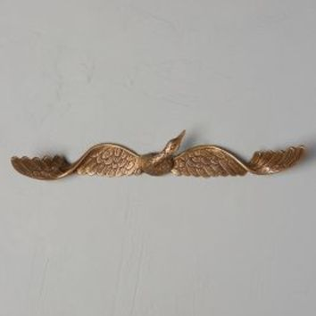 Graceful Crane Hook by Anthropologie in Antique