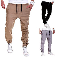 Calsky Men's Outdoor Casual Running Jogger Bottom Pants Trousers