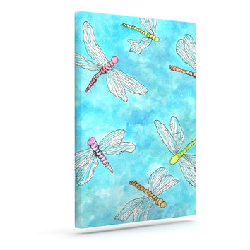 "Rosie Brown ""Dragonfly"" Outdoor Canvas Wall Art"
