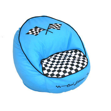 Komfy Kings, Inc 60015 Race Car Bean Chair Blue