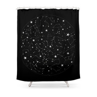 Society6 Constellations Shower Curtains