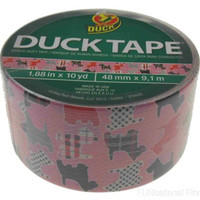 """Lot 5 Duck Tape Brand Duct Scottish Terrier Dog Pink 1.88""""x10yds Crafts Made USA"""