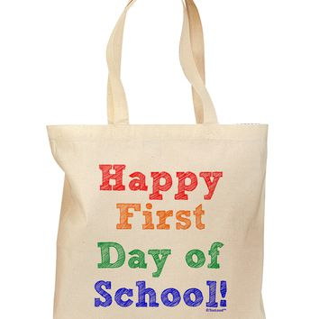 Happy First Day of School Grocery Tote Bag