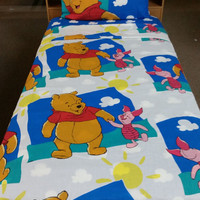 Pooh and Piglet Twin Flat Sheet