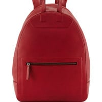 Zip-Top Leather Backpack, Red - Maison Margiela