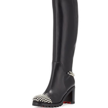 christian louboutin square-toe booties