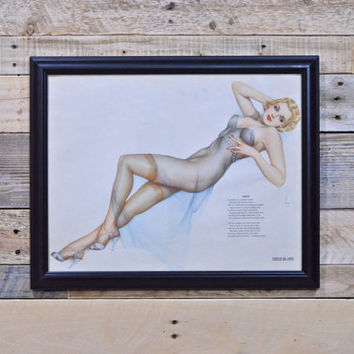 Varga Pinup Girl Art, Original, For Esquire, Vintage Vargas Girl