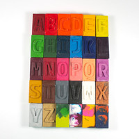 Letter Block Crayons - custom set of 30 - school supply, back to school, name, personalized crayons, party favor