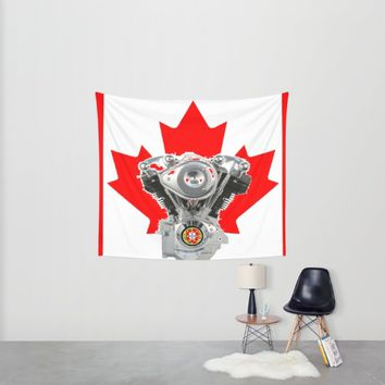 Canadian Portuguese Motorcycle Culture Wall Tapestry by Tony Silveira