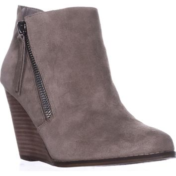 Jessica Simpson Carnivela Wedge Ankle Boots, Greyhound Suede, 11 US / 41 EU