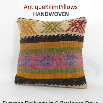 kilim pillow home decor kilim pillow cover decorative pillow rustic pillow cover country decor throw pillow 001061