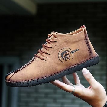 shoes men winter genuine leather sneakers warm boots 2018 New Comfortable Walking Shoes Loafers Men  high quality cuero big size