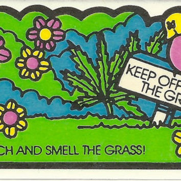 Vintage 80's Mello Smellos GRASS Scratch and Sniff Sticker