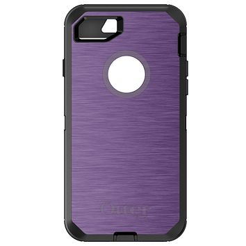 DistinctInk™ OtterBox Defender Series Case for Apple iPhone / Samsung Galaxy / Google Pixel - Purple Stainless Steel Print
