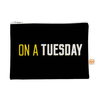 "KESS Original ""Tuesday"" Black Typography Everything Bag"