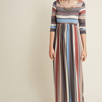 Seasoned Traveler Knit Maxi Dress