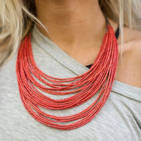 Coral Reef Seedbead Necklace