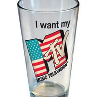 MTV FLAG PINT GLASS