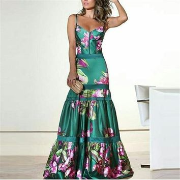 Vinatge Elegant Party Maxi Dress