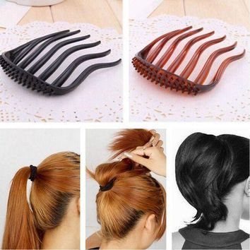PEAPGC3 YouMap Useful Volume Inserts Hair Clip Bumpits Bouffant Ponytail Hair Comb Bun Maker Accessories for Women A7R33C