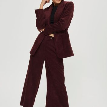 Corduroy Blazer and Trousers Set - Clothing