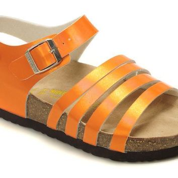 Birkenstock Almeria Sandals Artificial Leather Jacinth - Ready Stock