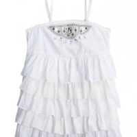 Tiered Embellished Woven Top   Tanks   Tops & Tanks   Shop Justice