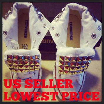 Custom Studded Converse Chuck Taylor All Stars by LoveChuckTaylors