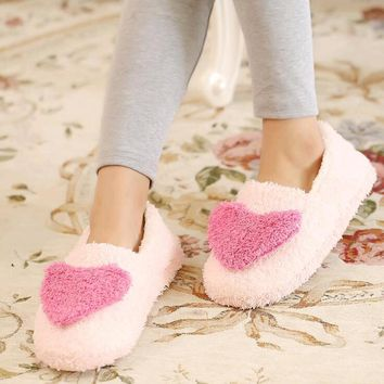 Women Love House Slippers 2016 hot Plush Warm Home Slippers Thermal Indoor Slipper fo